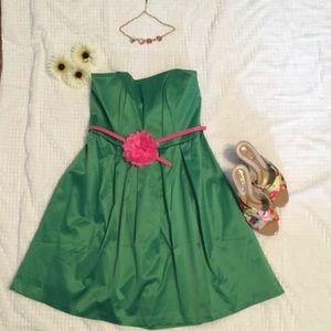 Merona Strapless Belted Evening Dress